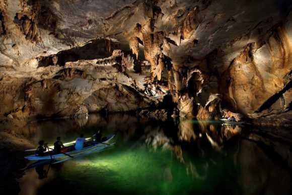 В пещерах очень красиво
