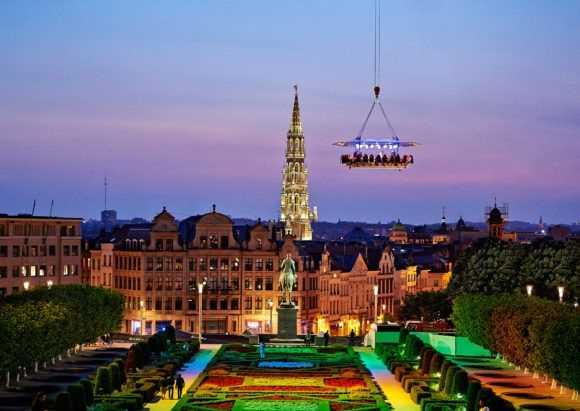 Летающий ресторан в Бельгии
