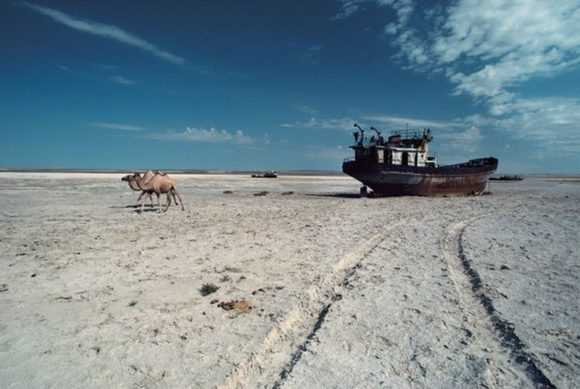 Вид Аральского моря