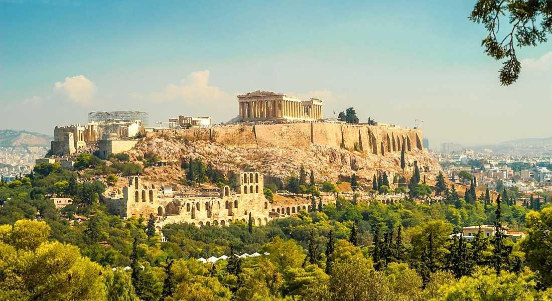Город Афины в Греции
