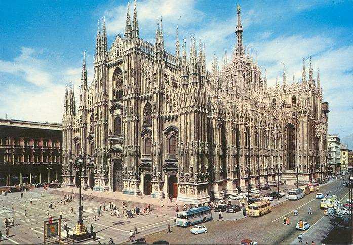 Милан на карте Италии